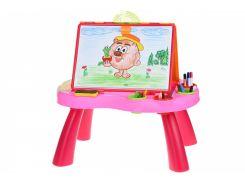 Обучающий стол Same Toy My Art centre розовый 8806Ut