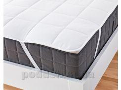 Наматрасник стеганый Ютек Comfort summer с резинками по углам 200х200 см