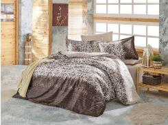 Постельное белье Class сатин Holly brown Двуспальный евро комплект