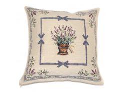 Декоративная гобеленовая наволочка Emilia Arredamento Лавандовый сад 45x45 см 45х45 см