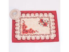 Салфетка гобеленовая Emilia Arredamento Маки 35x45 см салфетка 35х45 см