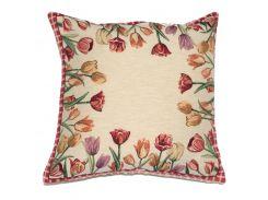 Декоративная гобеленовая наволочка Emilia Arredamento Цветущие тюльпаны 45x45 см 45х45 см