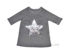 Реглан детский для девочки D&S Звезда со средним рукавом 183019 134