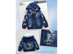 Джинсовая куртка детская UKY kids P17U1400 голубая 110