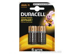 Батарейка Duracell Basic AAA алкалиновая 1.5V LR03 (6 шт.)