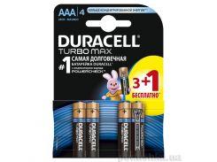 Батарейка Duracell TurboMax AAА алкалиновая 1.5V LR03 (3 плюс 1 шт.)