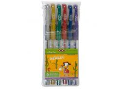 Набор из 6-и гелевых ручек Metallic 6 цветов Kids Line ZiBi txt ZB2203-99