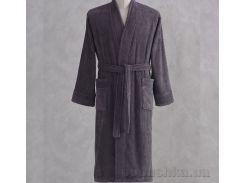 Халат махровый кимоно Pavia Esteban Antracite антрацитовый L