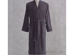 Халат махровый кимоно Pavia Esteban Antracite антрацитовый XL