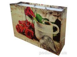 Пакет большой подарочный Ретро розы 36х24