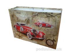 Пакет большой подарочный Ретро машина 36х24