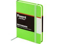 Книга записная Axent Partner 95*140 96л клет салатовый 8301-04-A