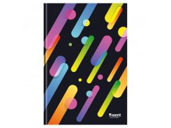 Книга записная А4 Axent Colour Rain 96л. кл. черный 8422-301-A