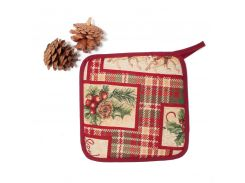 Прихватка гобеленовая Новогодняя Emilia Arredamento Счастливого Рождества 19,5 см (SCOT2APDL)