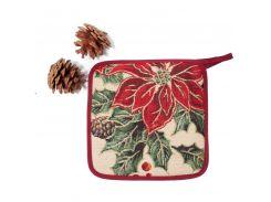 Прихватка гобеленовая Новогодняя Emilia Arredamento Рождественский букет 19,5 см (BardiAPDL)