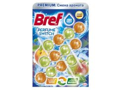 Туалетный блок Bref Смена аромата Персик-Яблоко Триопак 9000101403794