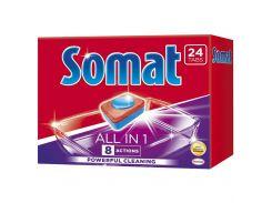 Таблетки для посудомоечной машины Somat All in one 24 таблетки 9000101347814