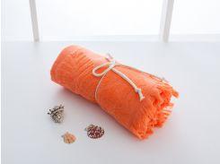 Полотенце пляжное English Home Dahlia оранжевое 80х150 см