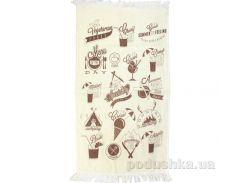 Полотенце махровое кухонное IzziHome Лето бежевое 40х60 см
