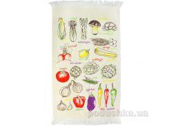 Полотенце махровое кухонное IzziHome Овощи цветное 40х60 см