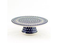 Тортовница на ножке Волшебная синева Керамика Артистична 28,5 см 659-70X