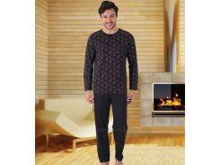 Пижама мужская Hall 93930 черная 4XL