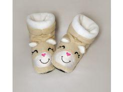 Детские домашние тапочки-сапожки с вышивкой Slivki Хомячки 30-31