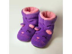 Детские домашние тапочки-сапожки с вышивкой Slivki Котята 24-25
