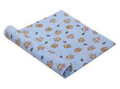 Пеленка детская ситец Руно совушки голубые 95х110 см
