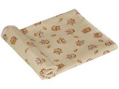 Пеленка детская ситец Руно совушки бежевые 80х95 см