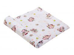 Пеленка детская ситец Руно слоник розовая 80х95 см