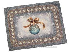 Салфетка гобеленовая новогодняя LiMaSo Ночь накануне Рождества салфетка 37х49 см