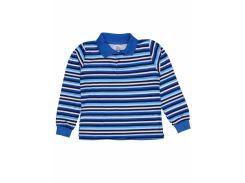 Джемпер поло для мальчика Татошка 07580псн интерлок, синий в голубую полоску 122