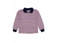 Джемпер поло для мальчика Татошка 07580пкр интерлок, синий в красную полоску 104