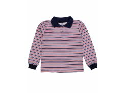 Джемпер поло для мальчика Татошка 07580пкр интерлок, синий в красную полоску 98