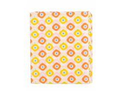 Пеленка Татошка П-2 ситец, белая с желтыми и оранжевыми квадратами 95х115 см