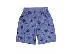Шорты для мальчика Татошка 10178джз кулир, голубой под джинс со звездами 92