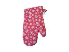 Кухонная рукавица Прованс Snow красная
