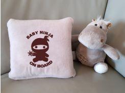 Детский плед с вышивкой Baby ninja 03 Slivki размер пледа 150х100 см