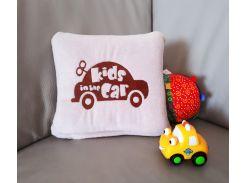 Детский плед с вышивкой Kids Car 04 Slivki размер пледа 150х100 см
