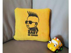 Детский плед с вышивкой Baby on board 10 Slivki размер пледа 150х100 см