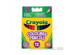 Короткие цветные карандаши 12 шт Crayola 4112