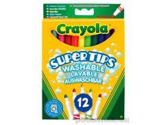 Смываемые тонкие фломастеры ярких цветов 12шт Crayola 7509
