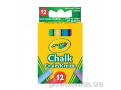 Цветные мелки с пониженным выделением пыли 12 шт Crayola 0281
