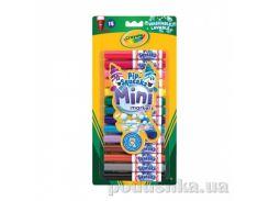 Смываемые мини-фломастеры 14шт Crayola 8343