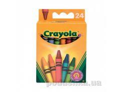 Цветные восковые мелки 24шт Crayola 0024