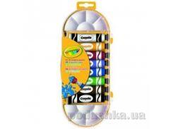 Краски темпера в тюбиках с кисточкой и палитрой 8шт Crayola 7407