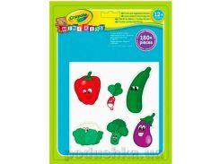 Набор многоразовых наклеек для малышей Овощи и фрукты 180 наклеек Mini Kids Crayola 81-2010