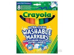 Смываемые фломастеры с широким наконечником Супер чисто 8шт Crayola 58-8328