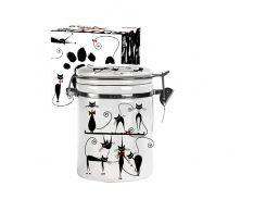 Ёмкость для сыпучих S&T черная кошка 0,5 л ST 630-12